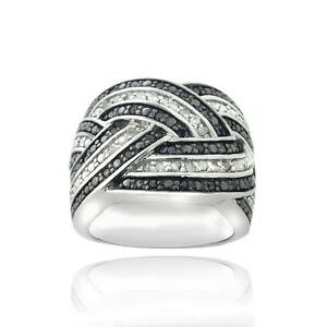 mens black and white diamond ring - Mens Black Diamond Wedding Rings