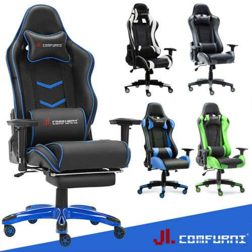 Computer Games - Luxury Executive Home Racing Gaming Office Chair Lift Swivel Computer Desk Chair