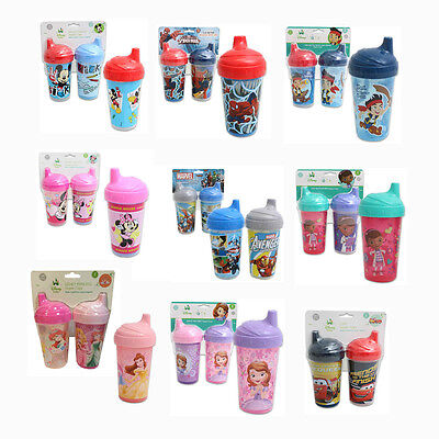 Toddler 2pk Spill Proof Licensed 10oz Sippy Cups Tumbler Mickey Minnie (Baby 2pk Sippy Cups)