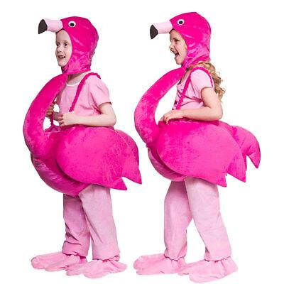 Kinder Flamingo Kostüm Vogel Tier Jungen Mädchen Deluxe Neu