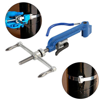 Manual Blue Stainless Steel Band Strapping Plier Strapper Packer Binding Tool Us