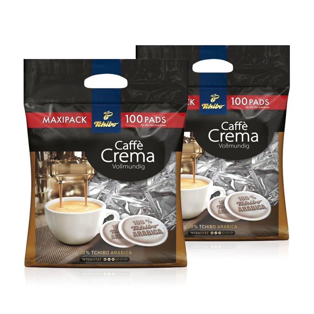 Tchibo Kaffeepads 2 x 100 Pads Crema vollmundig, Kaffee fürs Büro