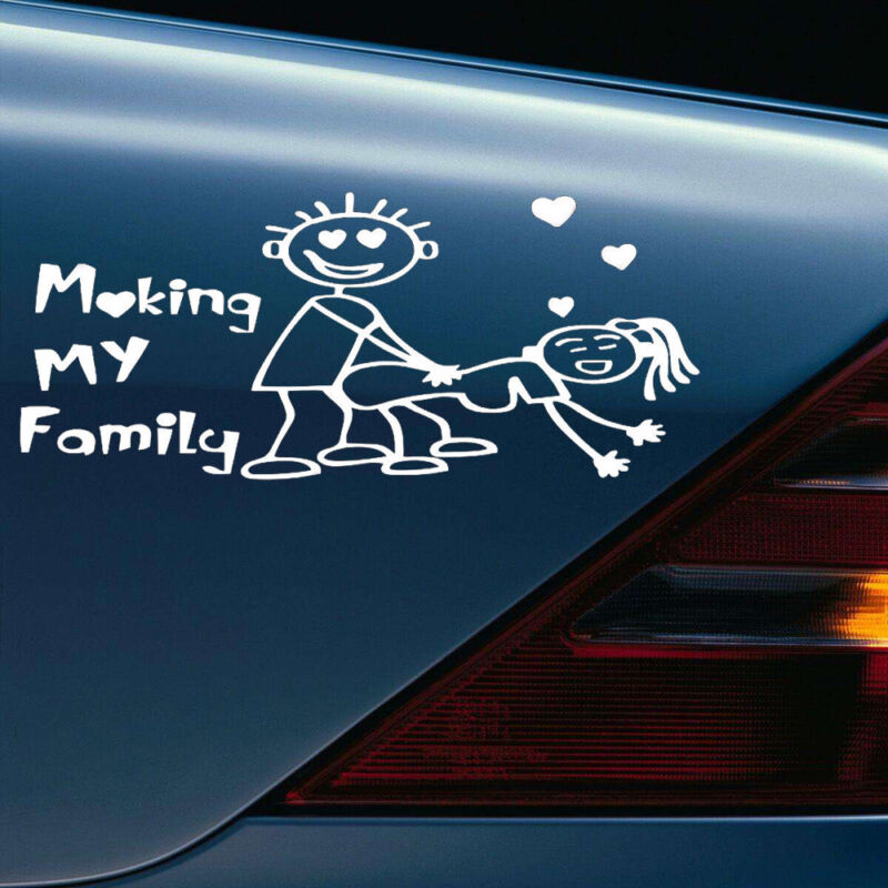 Window Stickers For Cars >> Details About My Family Funny Vinyl Decal Sticker Car Auto Window Decals Stickers 1pc