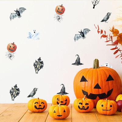 42 Aufkleber Halloween Grusel DIY Wandtattoo Horror Sticker Tattoo Set Deko