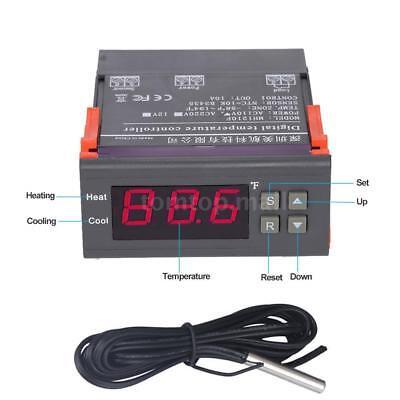 Fahrenheit 110v 10a Temperature Controller Temp Sensor -58194 Thermostat O2t7