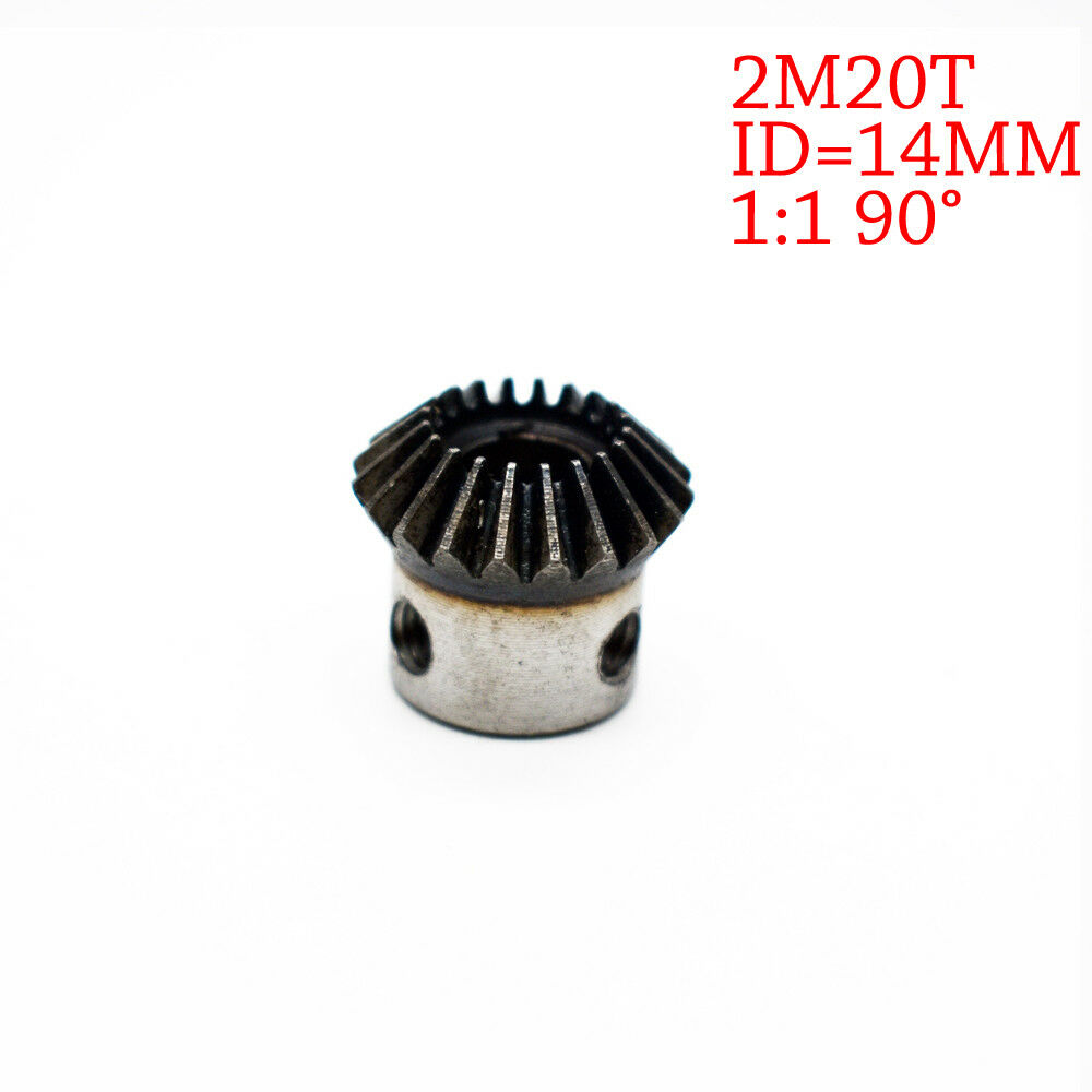 2Pcs 19mm 1:1 Bevel Gear 2 Modulus 20 Teeth With Inner Hole 19mm 90 Degree