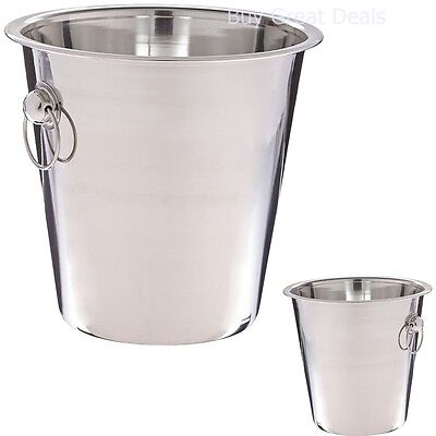 Wine Bottle Cooler Champagne Stainless Steel Party Drink Bar Tool Ice Bucket NEW ()