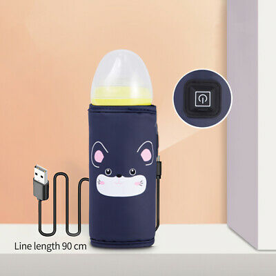 Baby Bottle Warmer USB Heating Insulated Bag Travel Cup Portable Milk Thermostat
