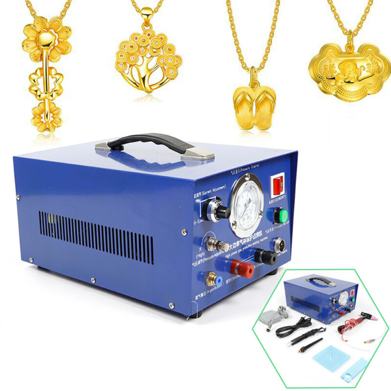 800W Necklace Bracelet Jewelry Welding Machine Argon Pulse Spot Welder Palladium