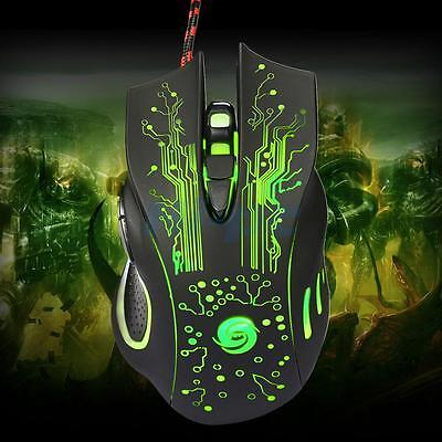 6Button 5500DPI LED Optical USB Wired Gaming Mouse Mice for Desktop PC Laptop 6 Button Mouse Usb