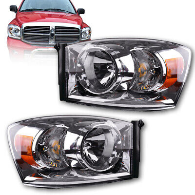 for 2006-2008 Dodge Ram 1500 2500 3500 Pickup Headlights Headlamps Assembly Pair, used for sale  Walnut