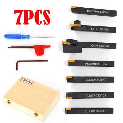 7pcs Set Of 8mm Lathe Turning Tool Holder Boring Bar Cnc Tools Lathe Cutting Top