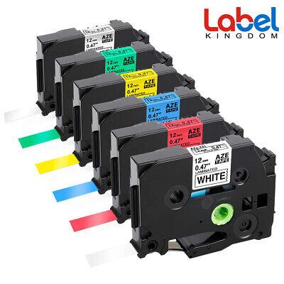 4PK Label Tape TZe 241 TZ441 TZ641 TZ741 TZ-241 for Brother P-touch 18mm PT-D400