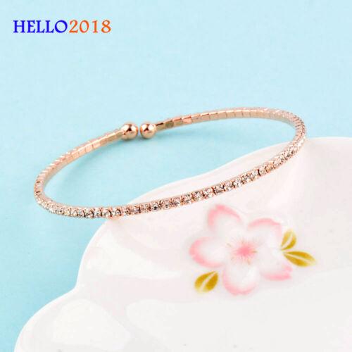 Strass Armband für Frauen öffnen Armreif einstellbar Schmuck Gold Silber Farbe