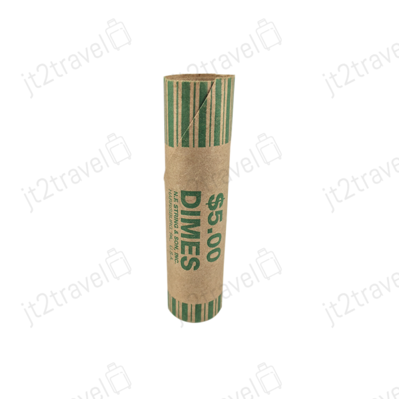 36 Preformed Coin Wrapper Rolls Paper Tubes Quarters Nickels Dimes Pennies NEW
