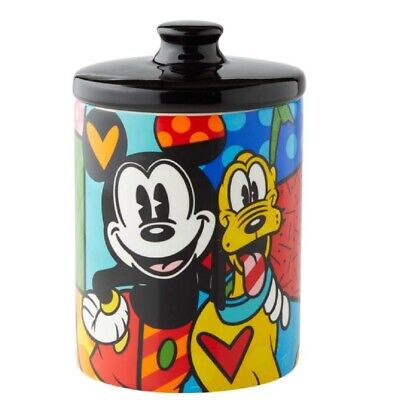 Romero Britto Pluto Small Canister Cookie Jar 6004977 New 6 inch