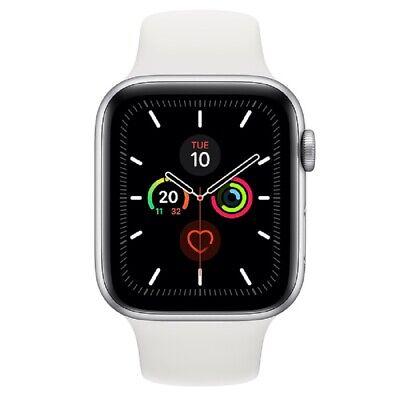 Apple Watch Series 5 GPS 44mm MWVD2 Silver Aluminum Caja Blanca Sport Band