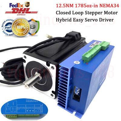 Nema34 12.5nm Closed-loop Stepper Motor Hybrid Servo Driver Power Encoder Cable