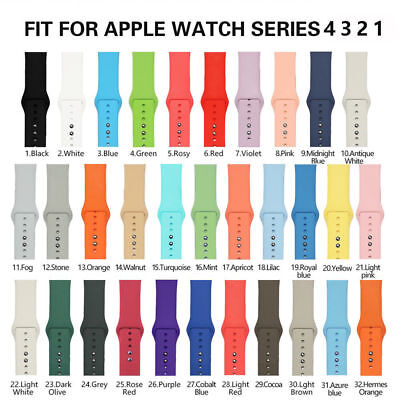 US Replacement Silicone Sport Band Strap For Apple Watch Series 4/3/2/1 (Us Replacement)
