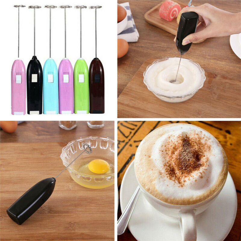 Handheld Electric Egg Beater Milk Frother Bubbler Coffee Ble