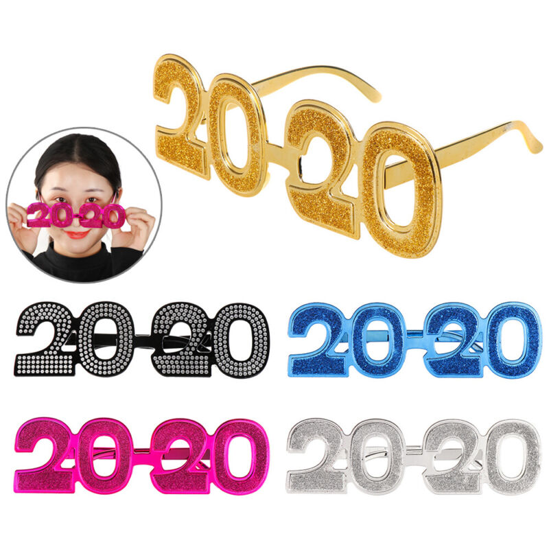 2020 New Year Eyeglass Funny Glitter Eyewear New Year's Eve