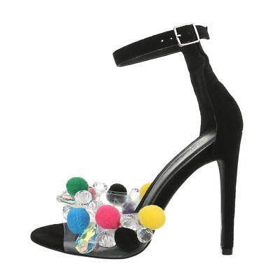Tacones Altos Tiras Sandalias de Tacón Zapatos Mujer Nuevo Talla 39 Negro...