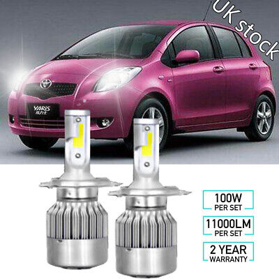 Toyota Aygo Mk1 55w Tint Xenon Hid High Low Beam Headlight Headlamp Bulbs Pair Gtti Gm