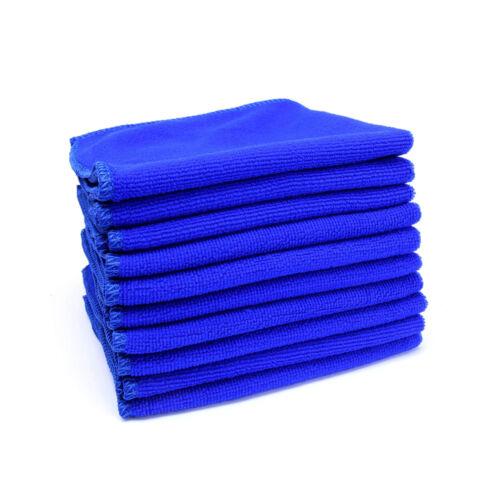 2 Pcs Car Soft Microfiber Tool Absorbent Blue Towel
