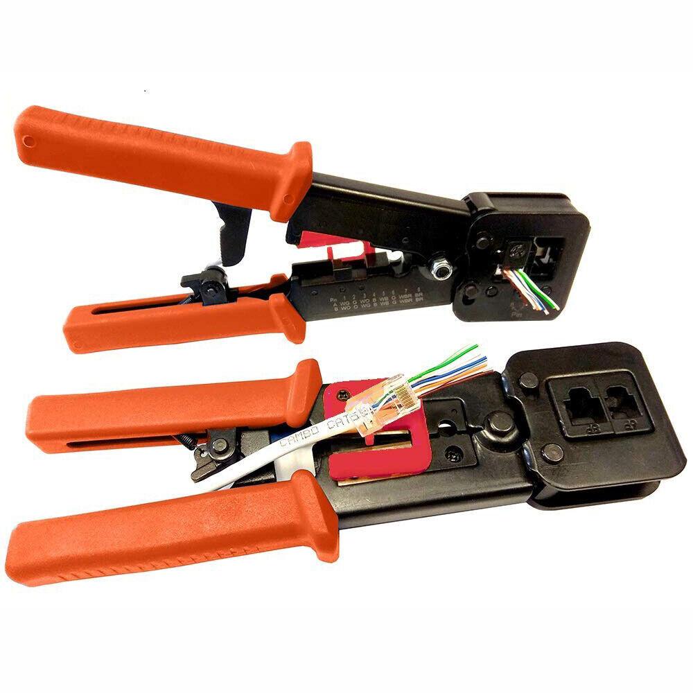 Crimper Tools for cat5 cat5e cat6 cat6a plugs ez rj45 plugs-Connector