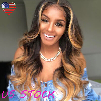 New Fashion Women 28'' Long Curly Body Wavy Brown Hairstyle Black Gold Hair Wigs](Curly Brown Wig)