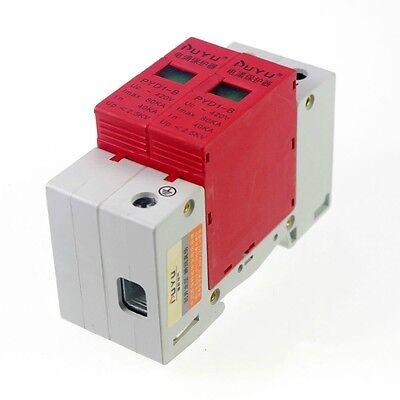 Spd Surge Thunder Lightning Protection Device Arrester 2p 40-80ka Din Rail Mount