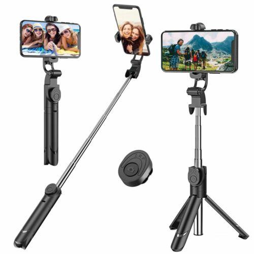 selfie stick extendable bluetooth remote shutter tripod