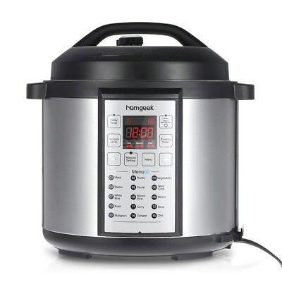 Instant Pot 15 in 1 Pressure Cooker 6 Quart 1000W Slow Cooker Steamer G0P6