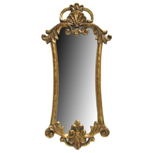 Large Regal Vintage Gold Gilt Rococo Baroque Style Accent Wall Mirror
