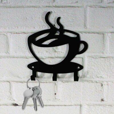 Coffee Cup Key Holder Hook Rack Hanger Organizer -