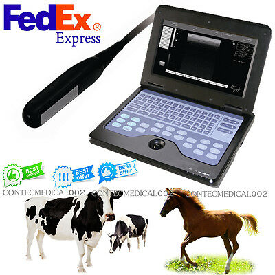 Usa Veterinary Laptop Machine Ultrasound Scanner Rectal Probe For Horsecow Vet