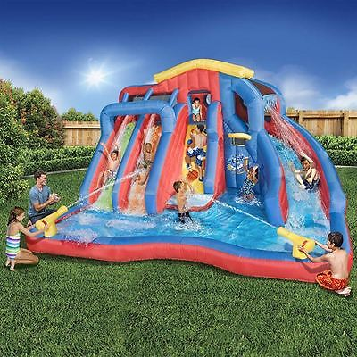 Inflatable Water Slide Bounce House Backyard Pool Kids Bouncer Castle Jumper NEW