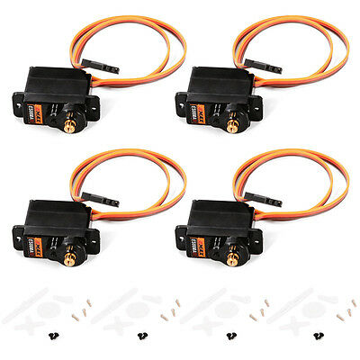 4 x EMAX ES08MAII 12g/ 1.8kg Mini Metal Gear High-Speed 9g Servo Upgrade