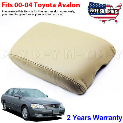 Avalon Console - Fits 2000-2004 Toyota Avalon Leather Center Console Lid Armrest Cover Beige Tan
