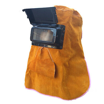 Welding Heat Insulation Protection Gear Safety Leather Face Mask Leather Helmets