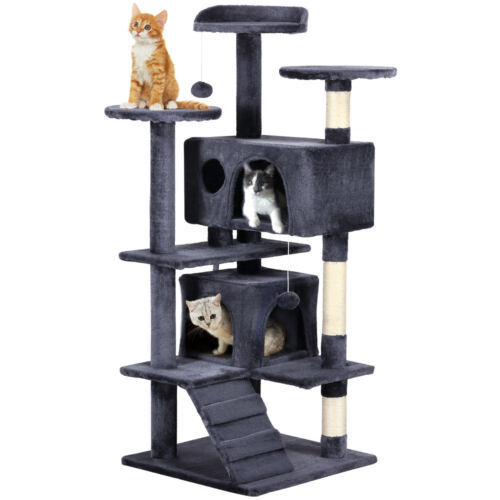 """Deluxe 51"""" Cat Tree Tower Toy Scratcher Furniture Scratching Post Pet Kitty Play"""