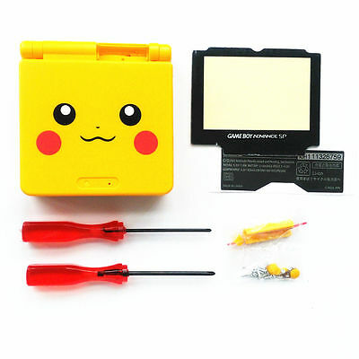 - GBA SP Game Boy Advance SP Replacement Housing Shell Screen Lens Pikachu Yellow