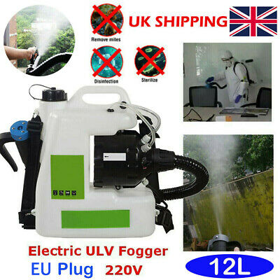 12L Backpack Electric ULV Fogger Cold Fogging Machine Spray Disinfection Sprayer