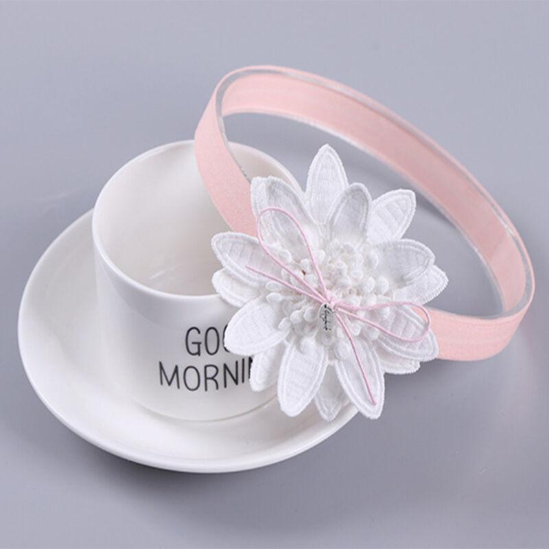 Delicate Flower Shape Headband Elastic Hairband Infant Girls Hair Accessories