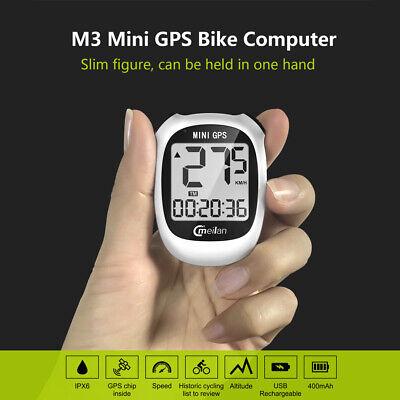 Meilan M3 Mini Fahrradcomputer Tacho KilometerzäHler USB GPS Bike Computer I6I0