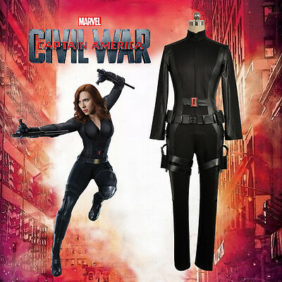 Captain America Civil War Black Widow Cosplay Costume Custom Adult Halloween ()