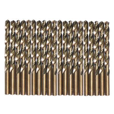 Drillforce 20pcs 18 Cobalt Drill Bit Set Hss M35 Jobber Length Metal Drill Bit