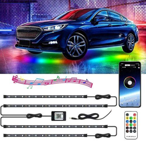 RGB Dreamcolor Led Car Underglow Lights Music Bluetooth APP Remote Control Strip Car & Truck Parts
