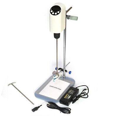 Electric Lab Overhead Stirrer Mixer Digital Display Agitator Homogenizer 40l New