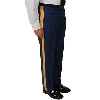 "NWT US Army Men's ASU ""C"" Dress Blues Service Uniform Braided Trousers Pants 34R"
